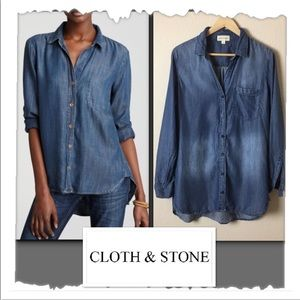 Cloth & Stone For Anthropologie Button Down Shirt